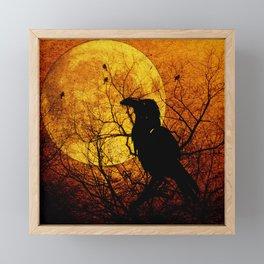 Harvest Moon Raven Framed Mini Art Print