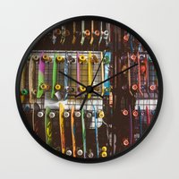 skate Wall Clocks featuring Skate by fusillo.foto