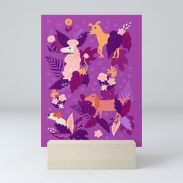 Stop and Sniff the Flowers in Purple Mini Art Print