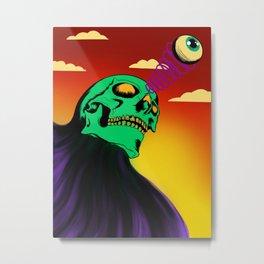 3rd eye open and dead inside Metal Print