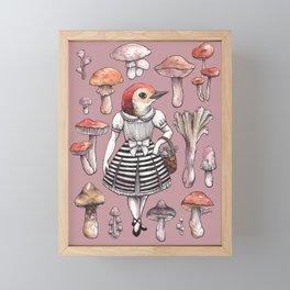 Mushroom Pickers - Lady Woodpecker Framed Mini Art Print