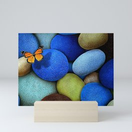 Gorgeous Fascinating Winged Insect Colorful Stones UHD Mini Art Print