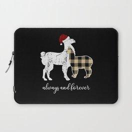Plaid Flannel Llama Mama Proud Mom Xmas Laptop Sleeve