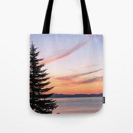 Tahoe Sunset Tote Bag