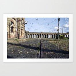 Old Tramstation - Depot - Berlin - Pankow Art Print