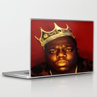 biggie smalls Laptop & iPad Skins featuring Biggie by I Love Decor
