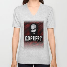 Coffee Lover Red Unisex V-Neck