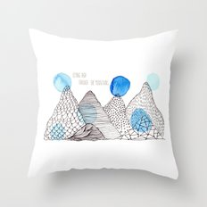 Flying high through the mountains Throw Pillow
