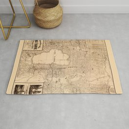 Map Of Lake Tahoe 1874 Rug