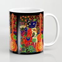hippy Mugs featuring Hippy Puss by SwanniePhotoArt