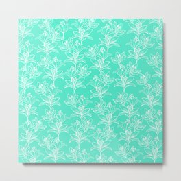 Lily Love in Mint Metal Print