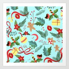 Christmas Pattern 6 Art Print