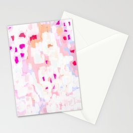 Netta - abstract painting pink pastel bright happy modern home office dorm college decor Stationery Cards