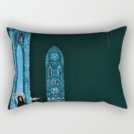 Kay Nielsen - The Youngest Prince Who Reaches The Church Where The Heart Of The Giant Is Hidden Rectangular Pillow