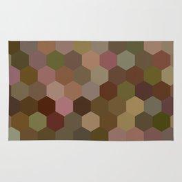 Camouflage hexagons Rug