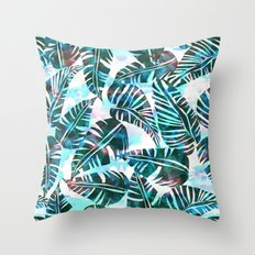 Lani Kai Leaf Green Throw Pillow
