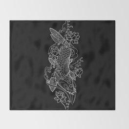 Koi Fish 1 Throw Blanket