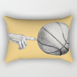 Basketball spin orange Rectangular Pillow