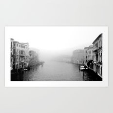 Fog in Venice Art Print