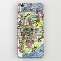 new york city iPhone & iPod Skins featuring New York City Love by Brooke Weeber