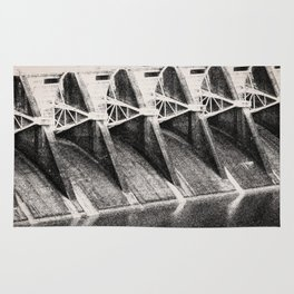 Industrial Dam Structure Rug