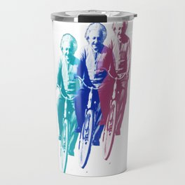 Albert Einstein by bike Travel Mug