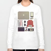 8bit Long Sleeve T-shirts featuring 8Bit Handbag by Thecansone