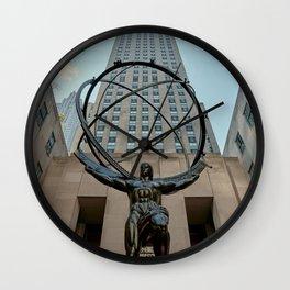 Atlas Statue Wall Clock