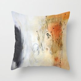 White Abstract Painting  Throw Pillow