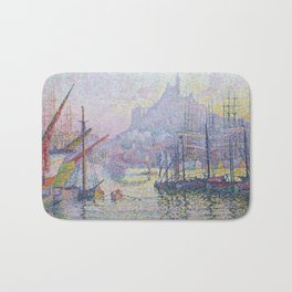 View of the Port of Marseilles Bath Mat