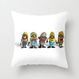 zombie minons Throw Pillow
