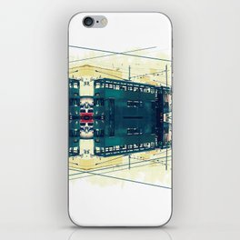 Tramway collage cityscape in Hong Kong iPhone Skin