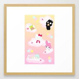 Sanrio in the Sky Framed Art Print