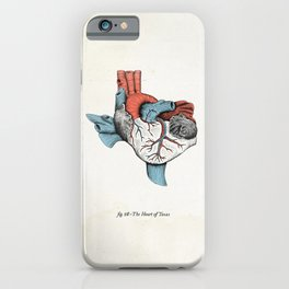 The Heart of Texas (Red, White and Blue) iPhone Case