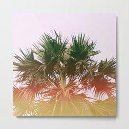 Palm tree#leaklight#film#effect Metal Print