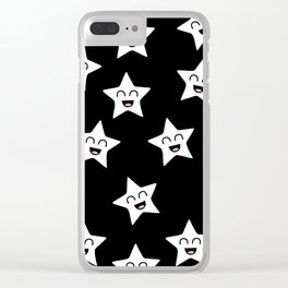 Happy Stars Clear iPhone Case