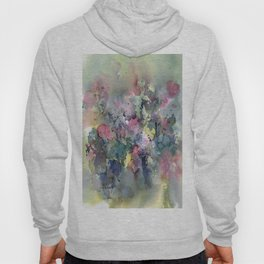 Impressionistic Watercolor of Sweet Peas Hoody