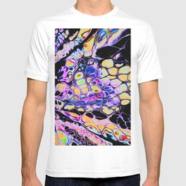 Remedy Iridescent Space Vaporwave Marble Abstract T-shirt