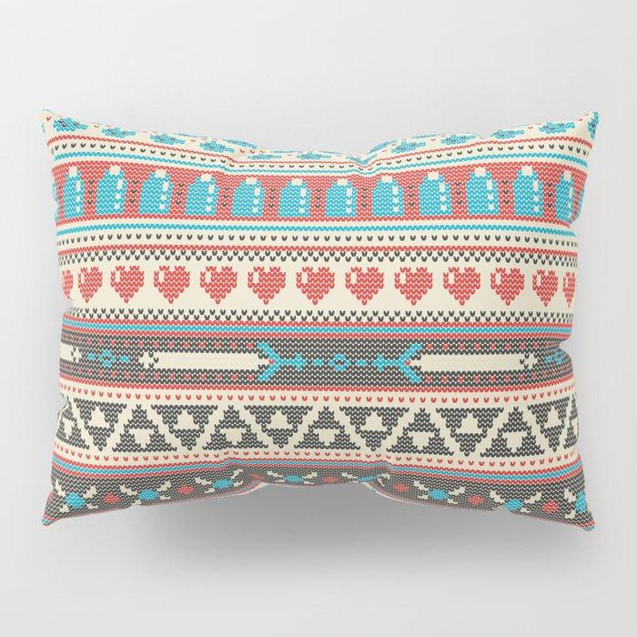 Fair-Hyle Knit Pillow Sham