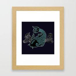Little Lucky Koi Framed Art Print