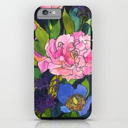 French Lavender & Roses iPhone Case