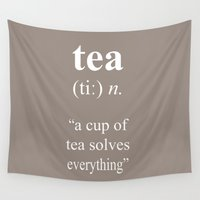 tea Wall Tapestries featuring Tea by cafelab