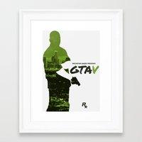 gta v Framed Art Prints featuring City of Angels - GTA V by Samuel Barnett