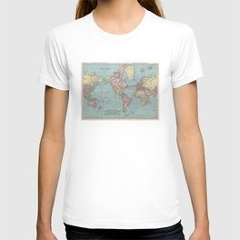 Vintage Map of The World (1912) T-shirt