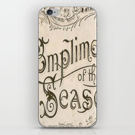 Season's Greetings Shabby Chic French Country Modern Vintage Christmas Typography iPhone Skin