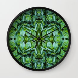 Grow, grow, grow | Leafy dreams Wall Clock