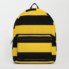 Yellow and Black Honey Bee Horizontal Cabana Tent Stripes Backpack