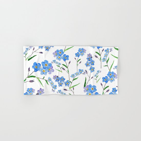 forget me not Hand & Bath Towel
