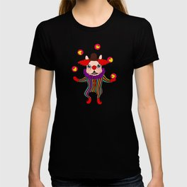 Clown Dog Frenchie entertains you with love and cuteness T-shirt