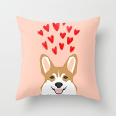 Valentines - Love Corgi  Throw Pillow